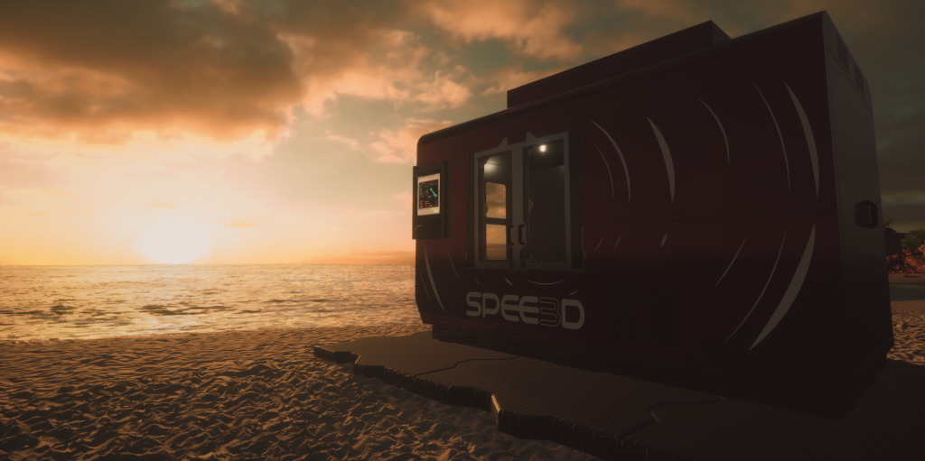 SPEE3DCraft SPEE3D sunset beach screenshot