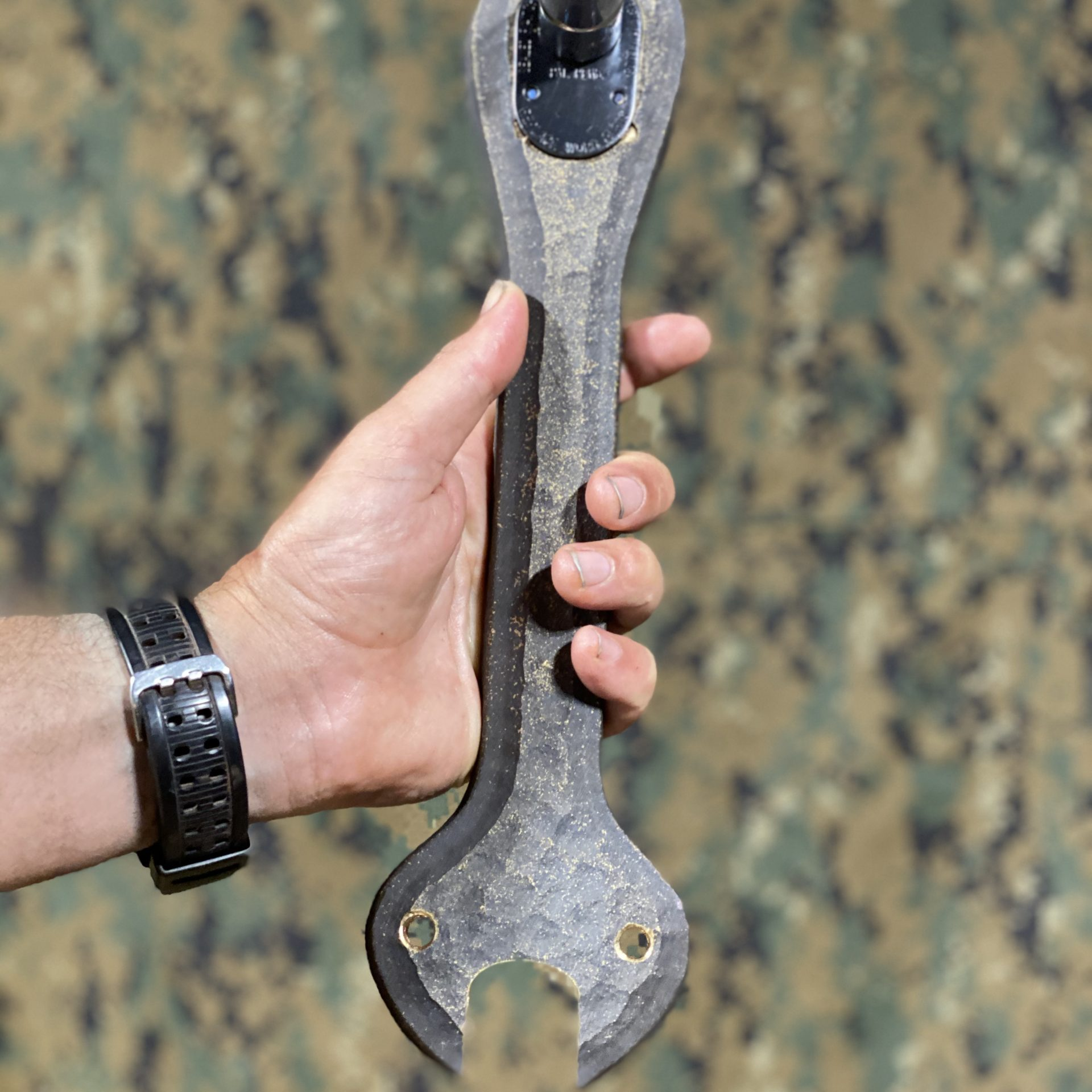 3D printed Gunner's ratchet used by Defence in the service of the M242 Australian Light Armoured Vehicle Machine Gun